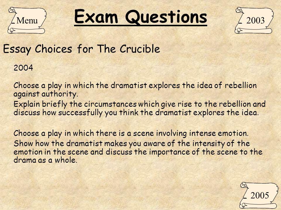 Crucible Essays