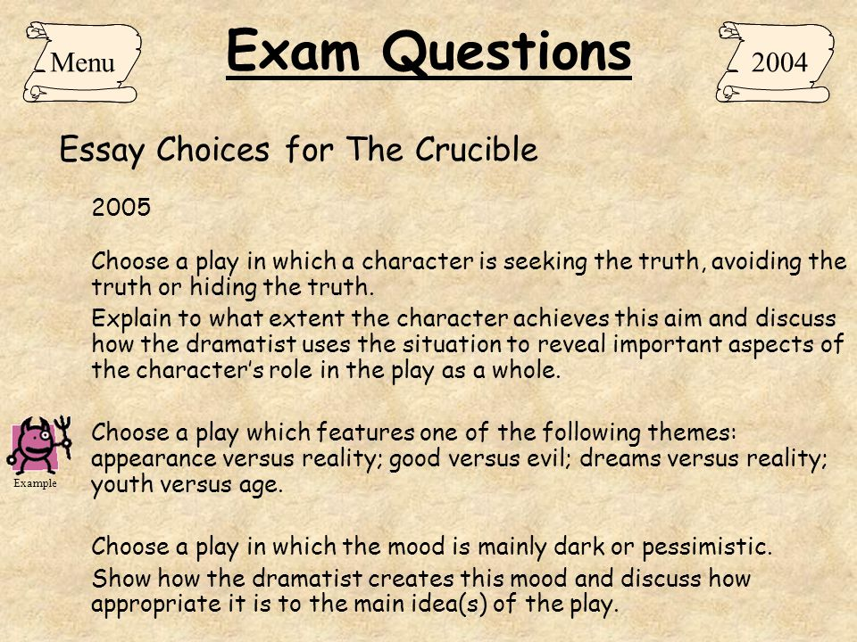 to what extent is the crucible