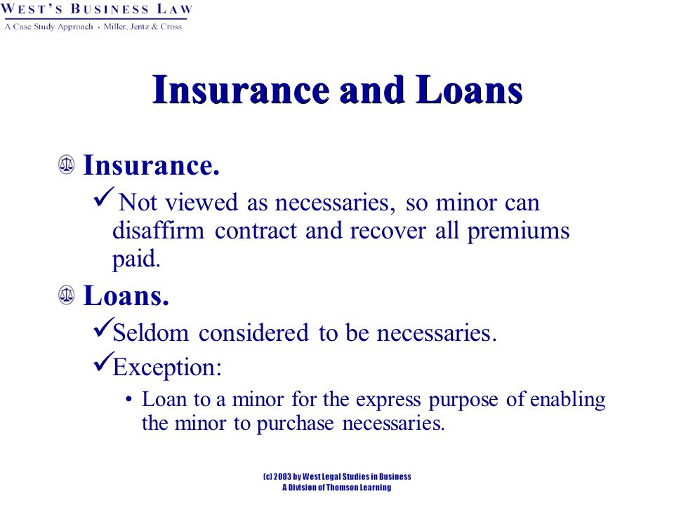 Insurance and Loans Insurance. Loans.