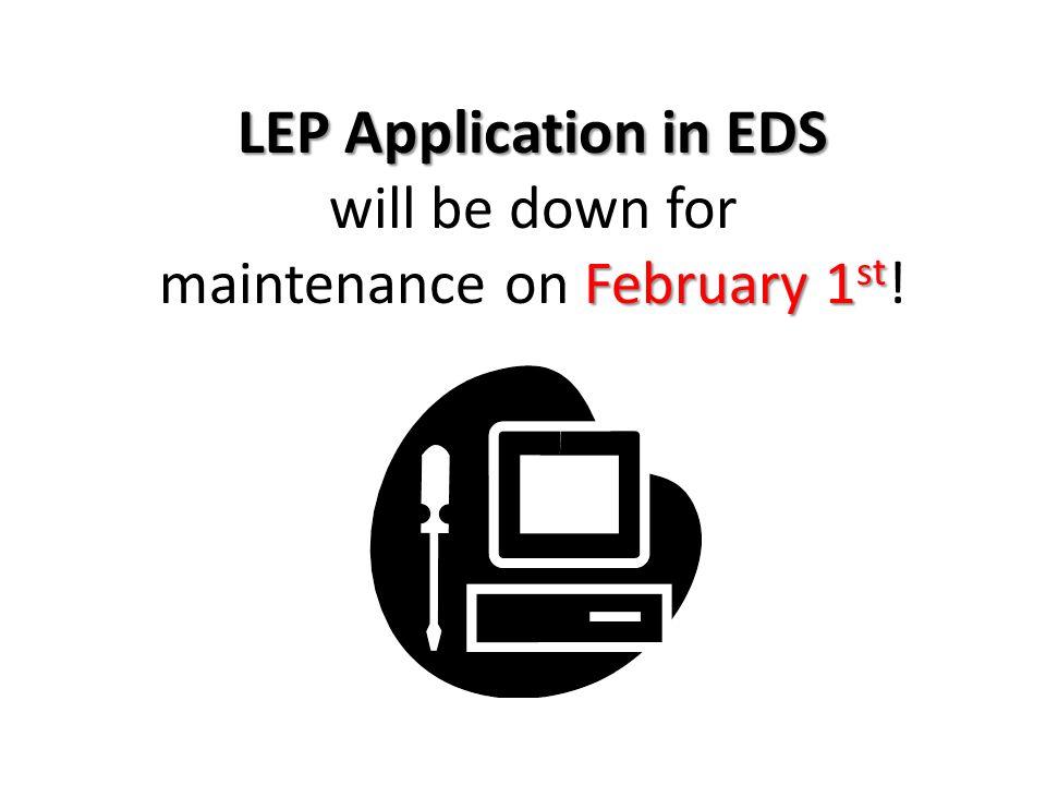 maintenance on February 1st!