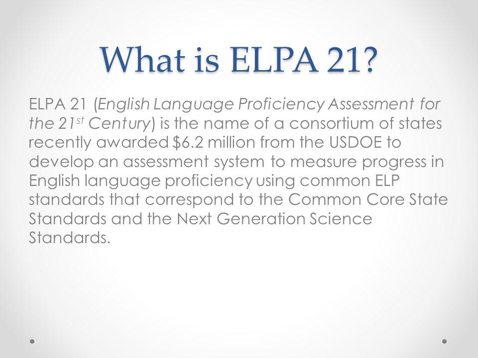 What is ELPA 21