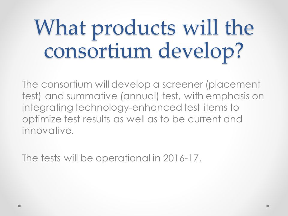 What products will the consortium develop