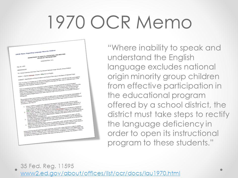1970 OCR Memo