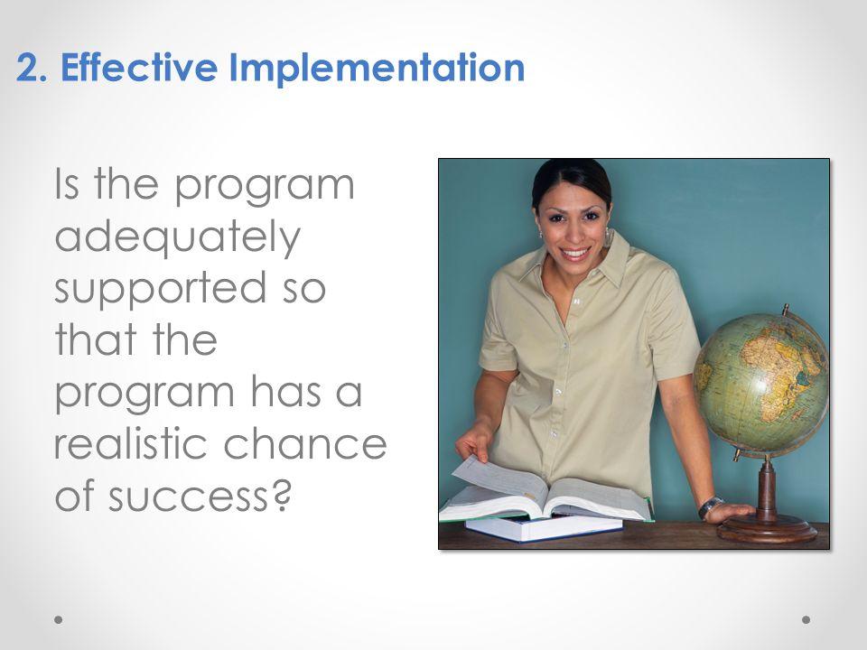 2. Effective Implementation