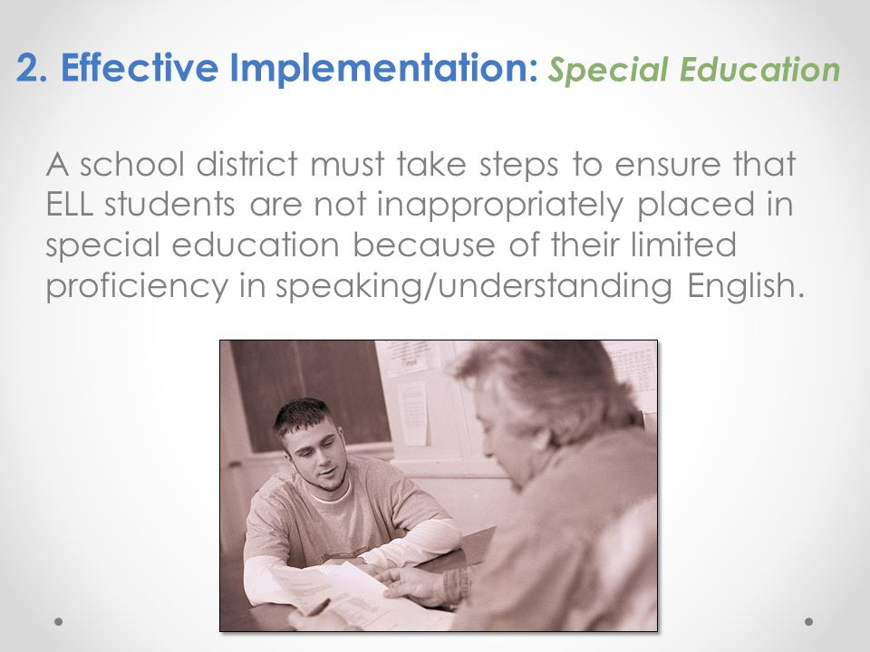 2. Effective Implementation: Special Education