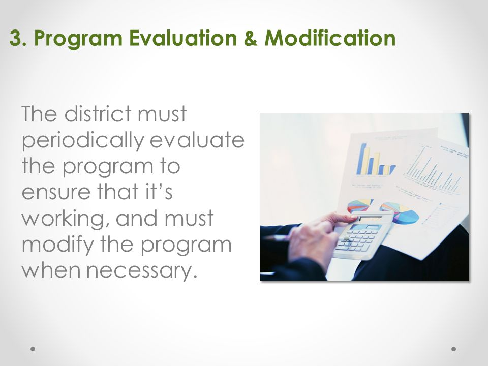 3. Program Evaluation & Modification