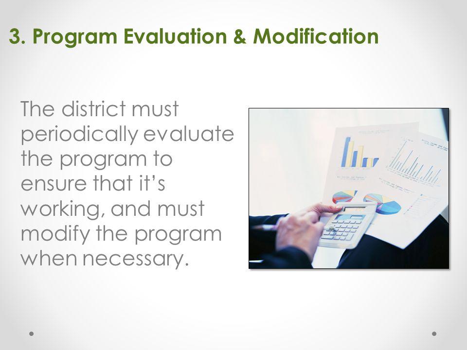 3. Program Evaluation & Modification