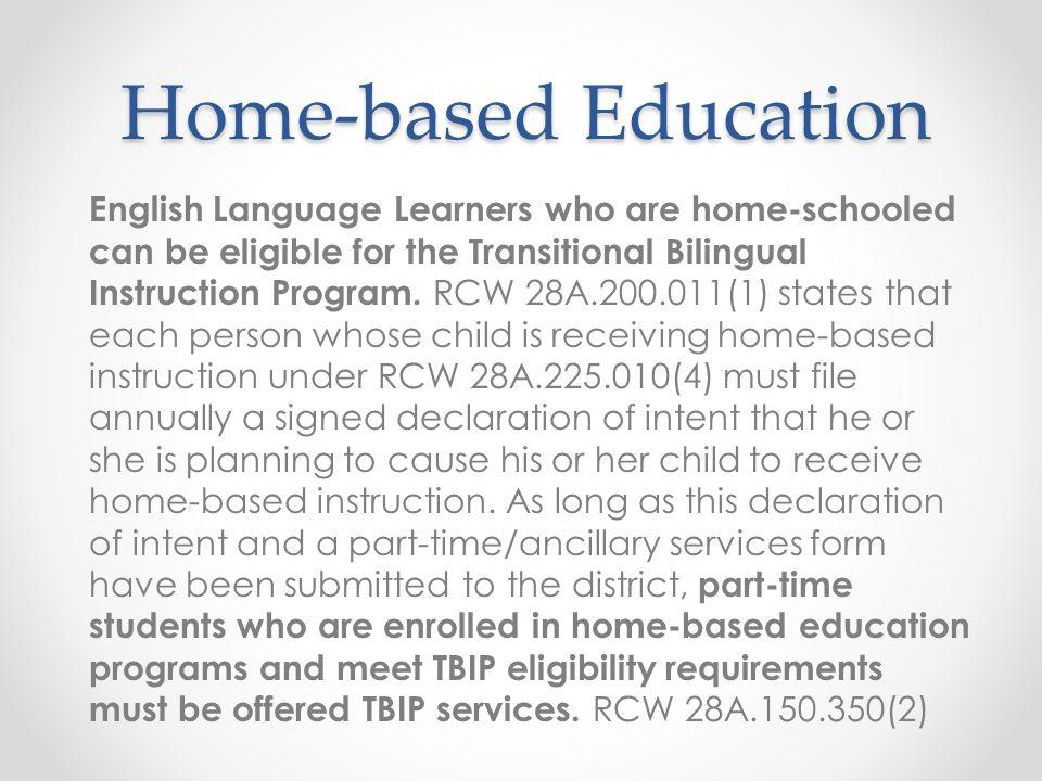 Home-based Education