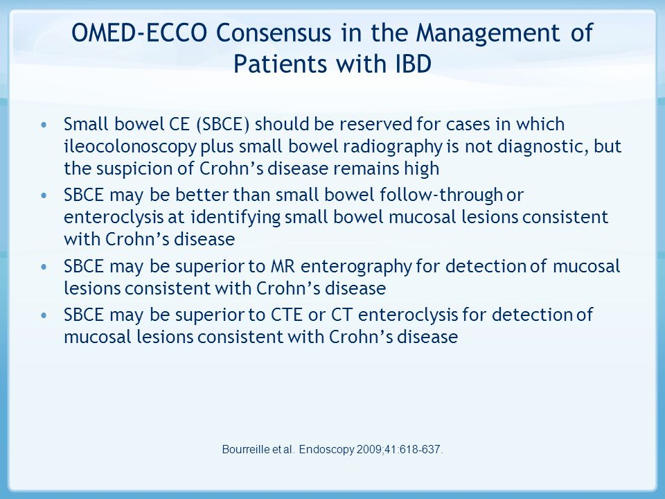 OMED-ECCO Consensus in the Management of Patients with IBD