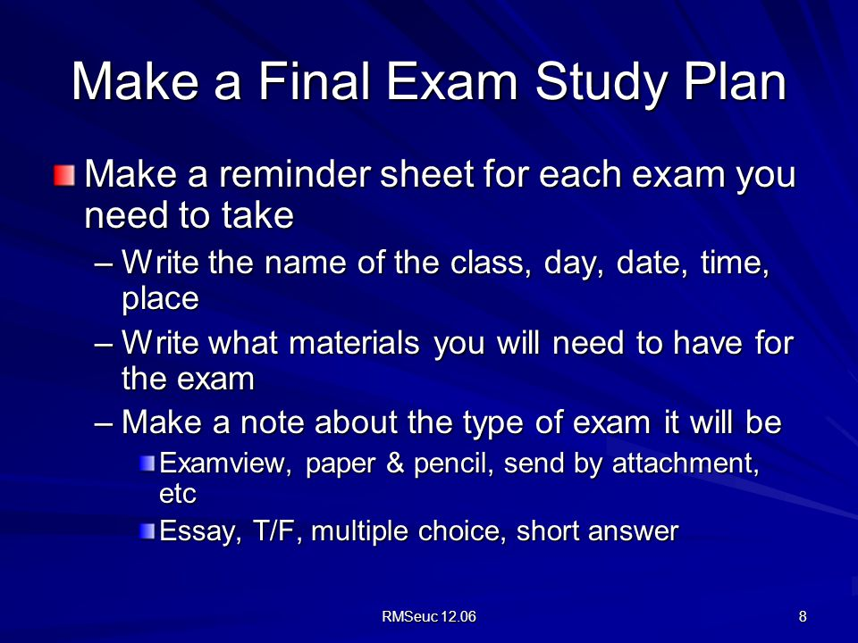 Exam Preparation Tips   UNSW Current Students