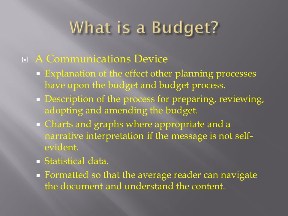 What is a Budget A Communications Device