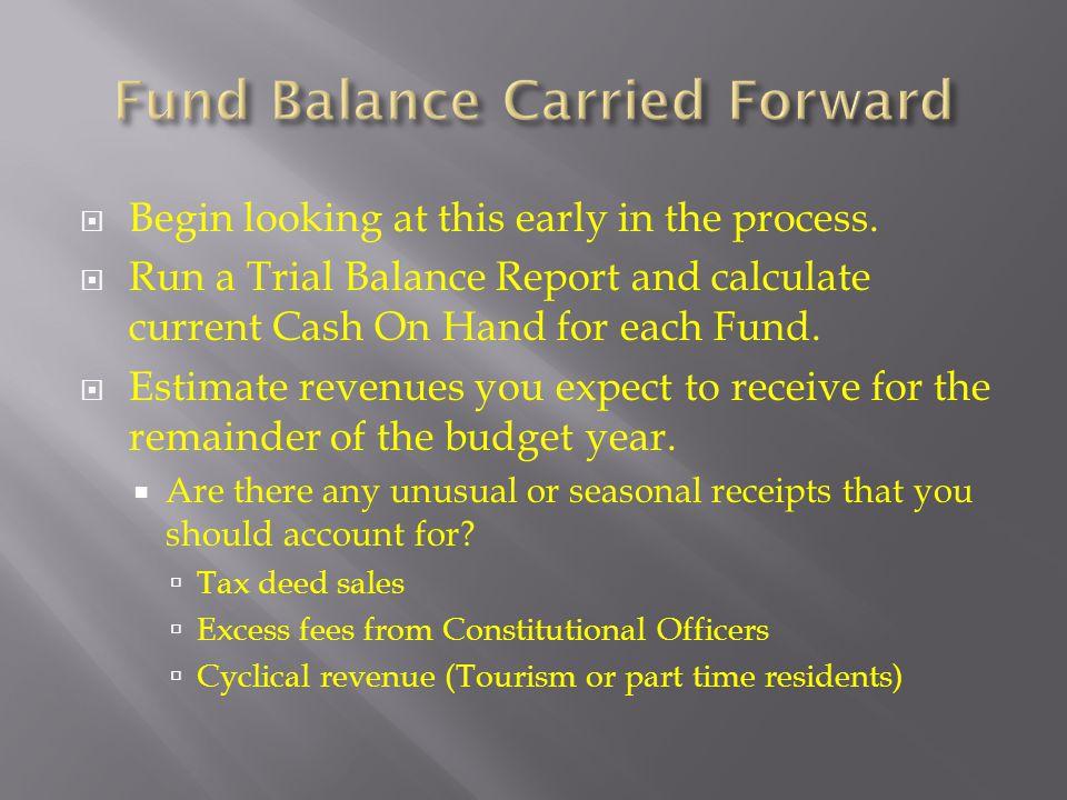 Fund Balance Carried Forward