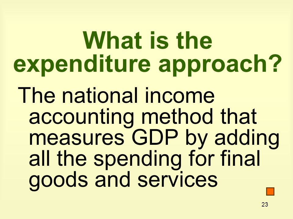 What is the expenditure approach