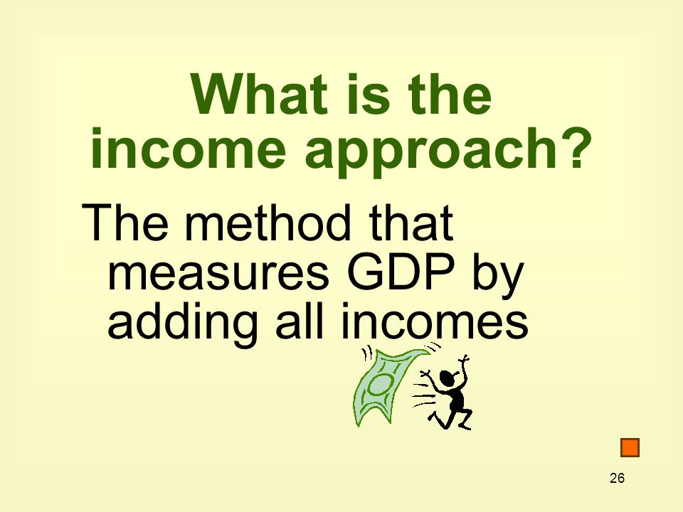 What is the income approach