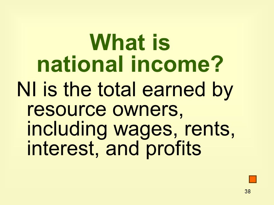 What is national income