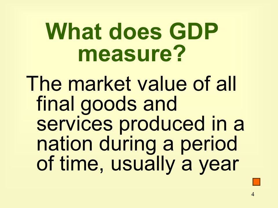 What does GDP measure.