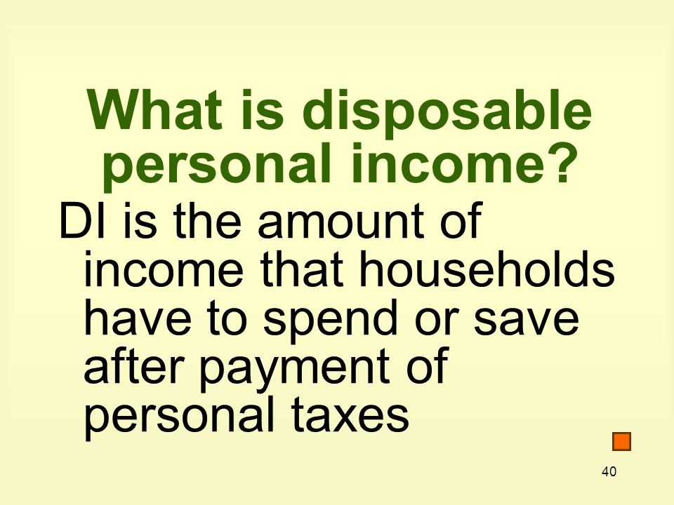 What is disposable personal income