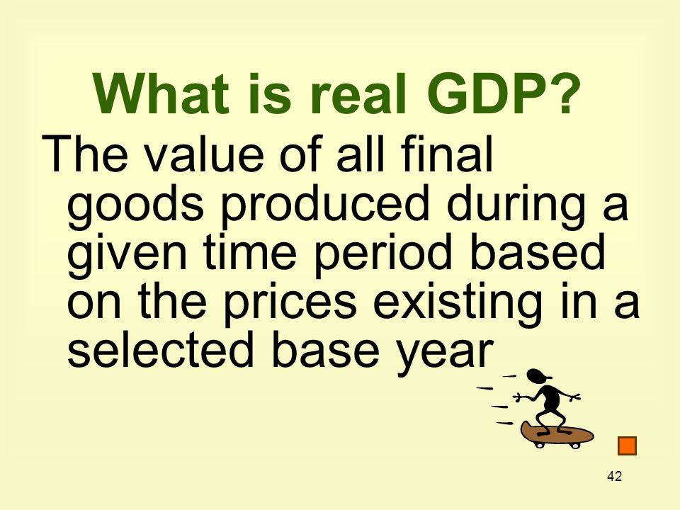 What is real GDP.