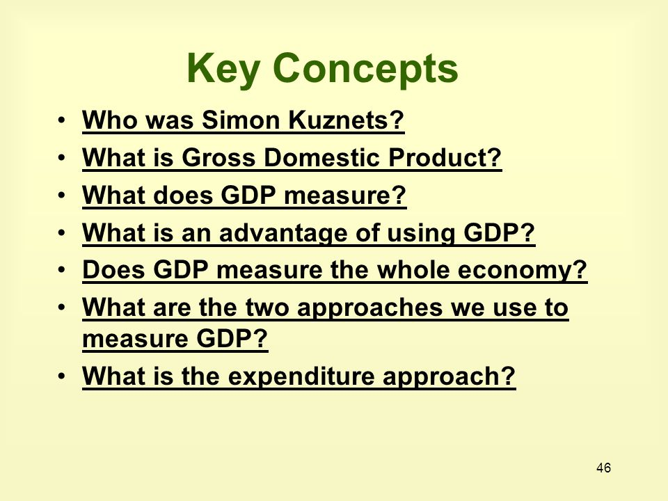 Key Concepts Who was Simon Kuznets What is Gross Domestic Product