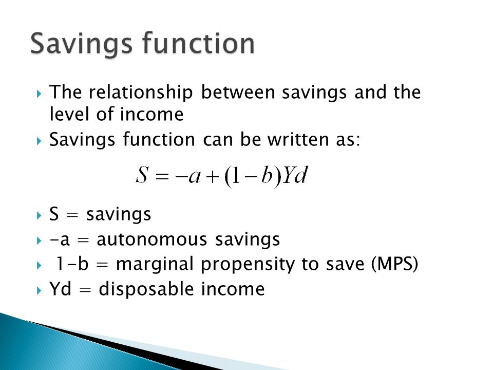 the relationship between disposable income and savings is