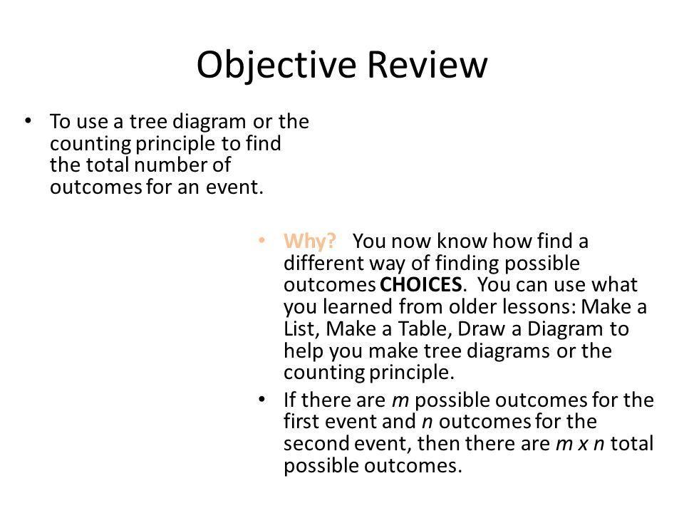 how to find average number of outcomes