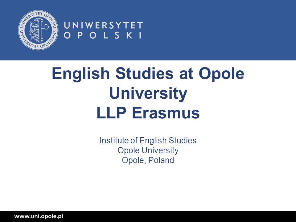 English Studies at Opole University LLP Erasmus