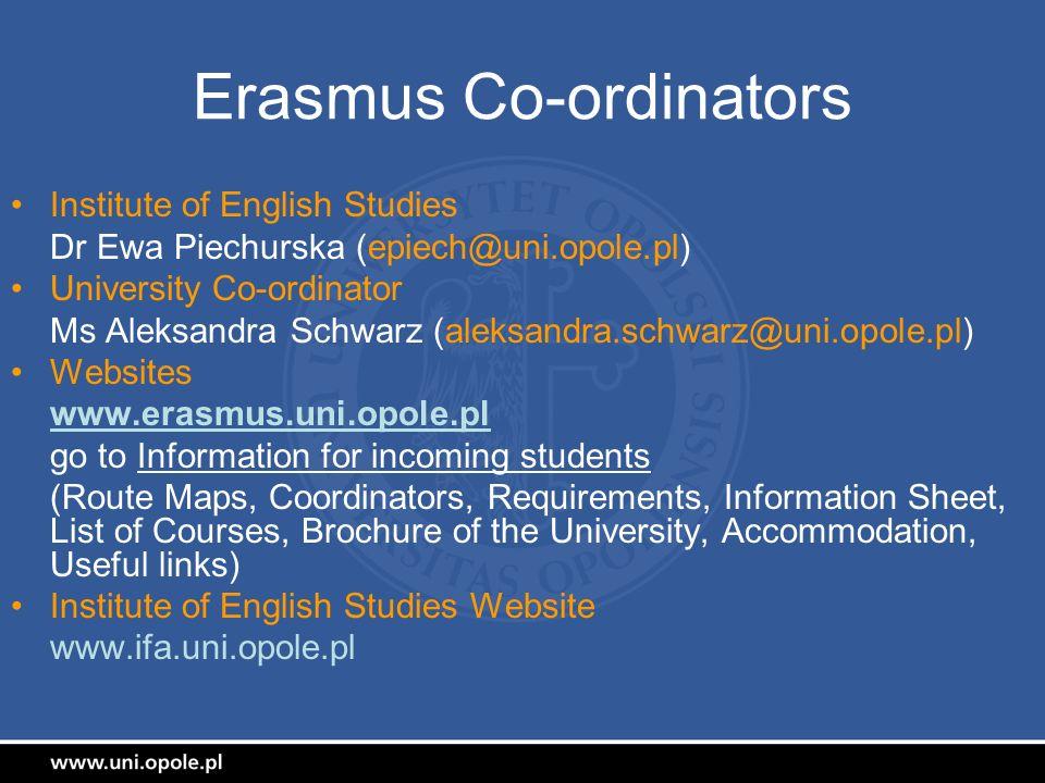Erasmus Co-ordinators