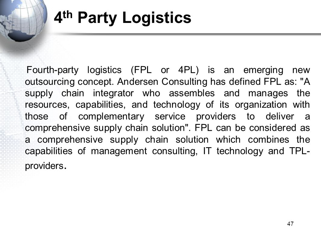 Third Party Logistics / Fourth party Logistics - ppt video ...
