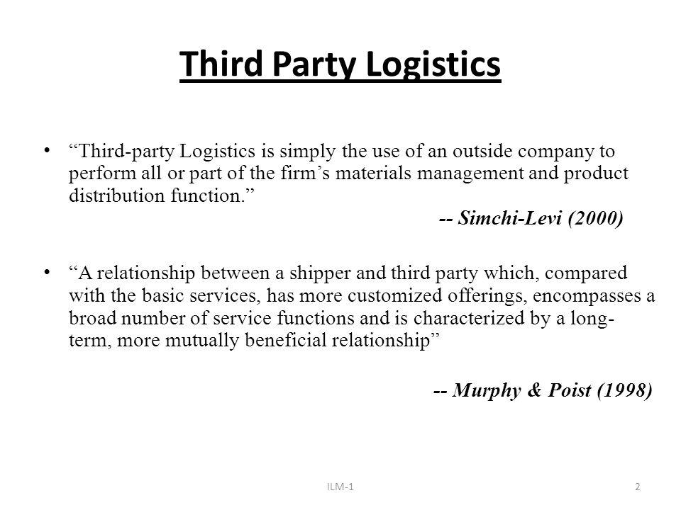 party logistics provider