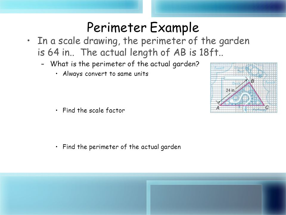 Area and perimeter of similar figures ppt download 6 perimeter example in a scale ccuart Images