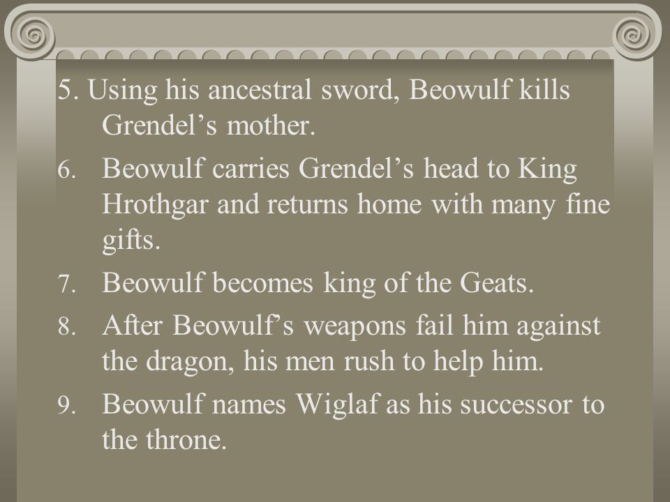 an analysis of beowulfs encounters with the swords Check out our revolutionary side-by-side summary and analysis beowulf facing the dragon (lines 2324–2710) summary & analysis from litcharts with his sword.