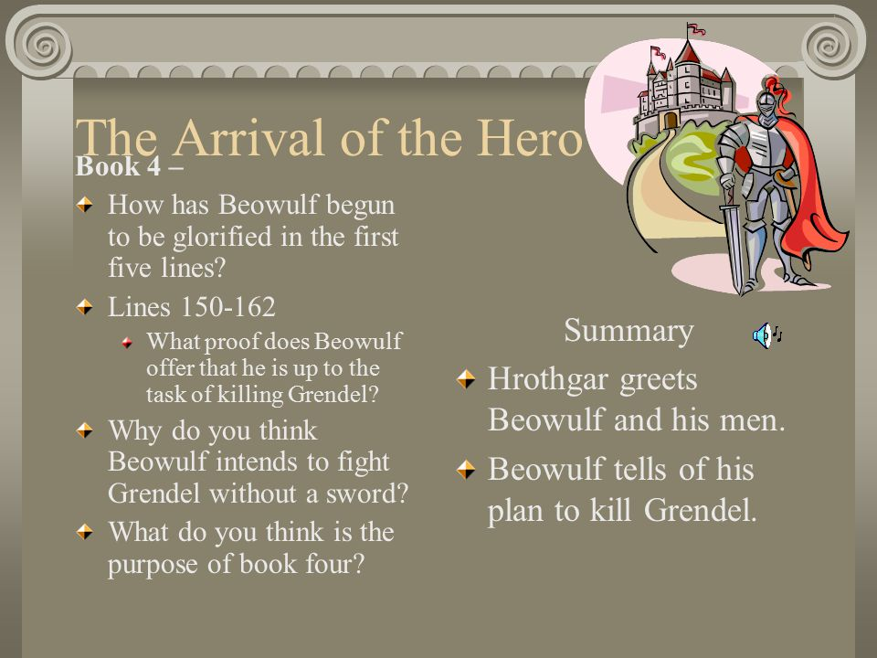 an analysis of the hero in the play beowulf I explore the hero's journey with my students throughout the year by exploring works from beowulf to macbeththis lesson originally appears in a unit for beowulf on ccbetterlesson my classes are held in 100 minute block sessions.
