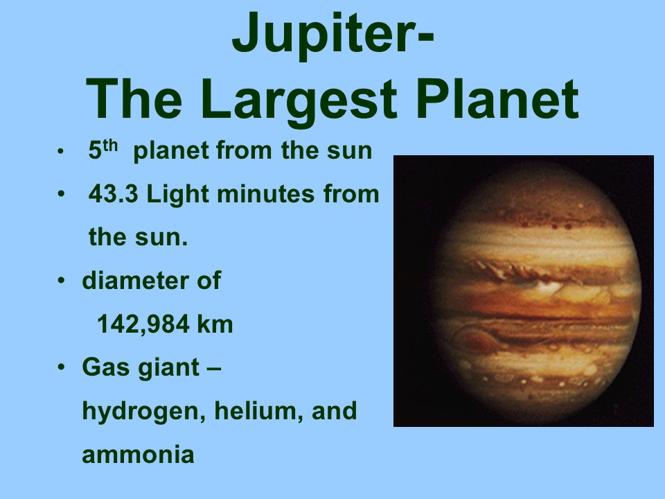 Jupiter- The Largest Planet