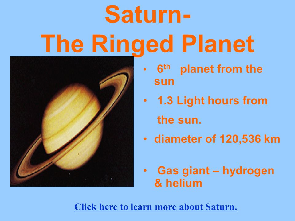 Saturn- The Ringed Planet