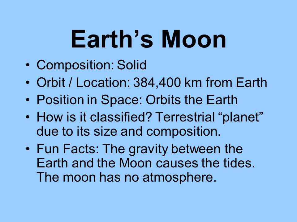Earth's Moon Composition: Solid