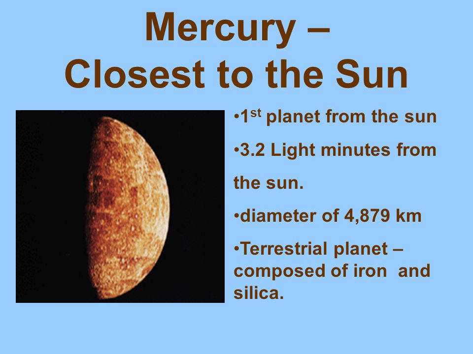Mercury – Closest to the Sun