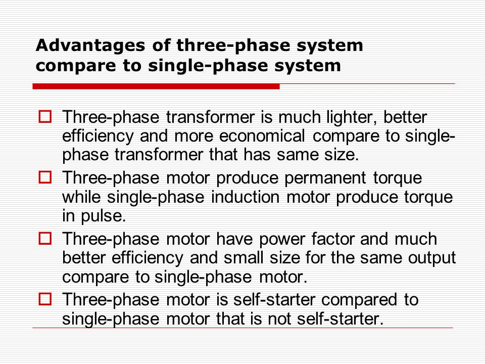 advantages of 3 phase system pdf