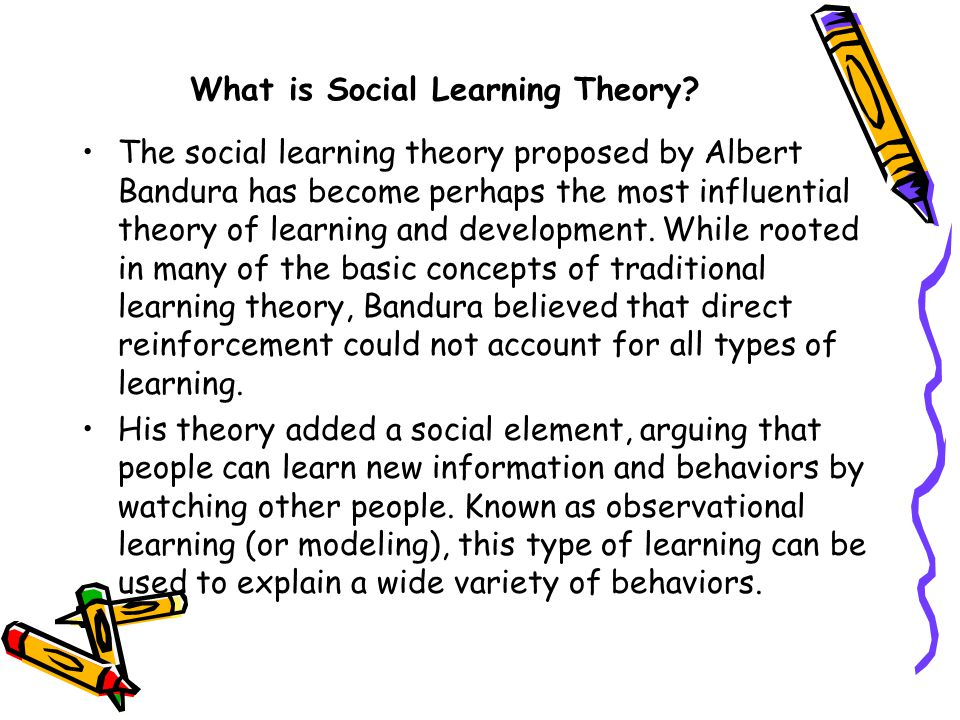 Social Learning Theory – Bandura