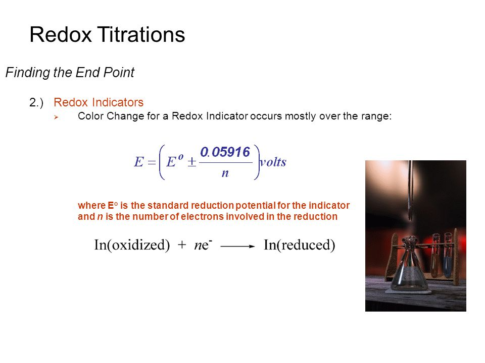 how to choose a redox indicator