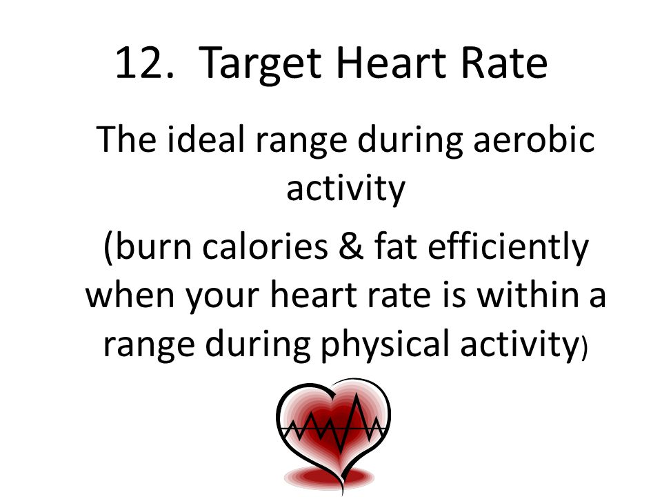 12. Target Heart Rate