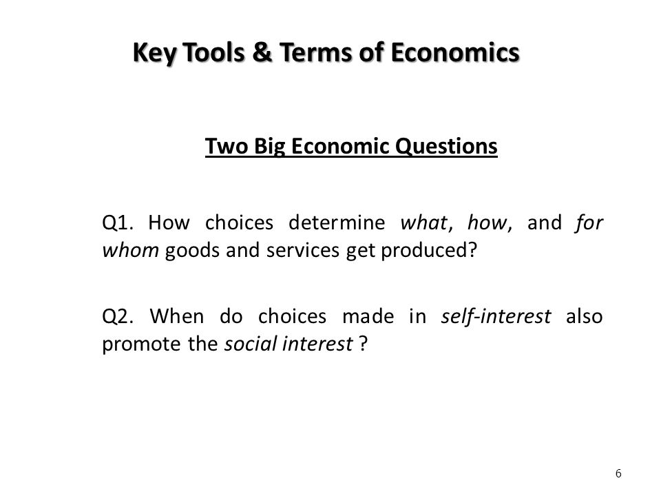economics terms goods