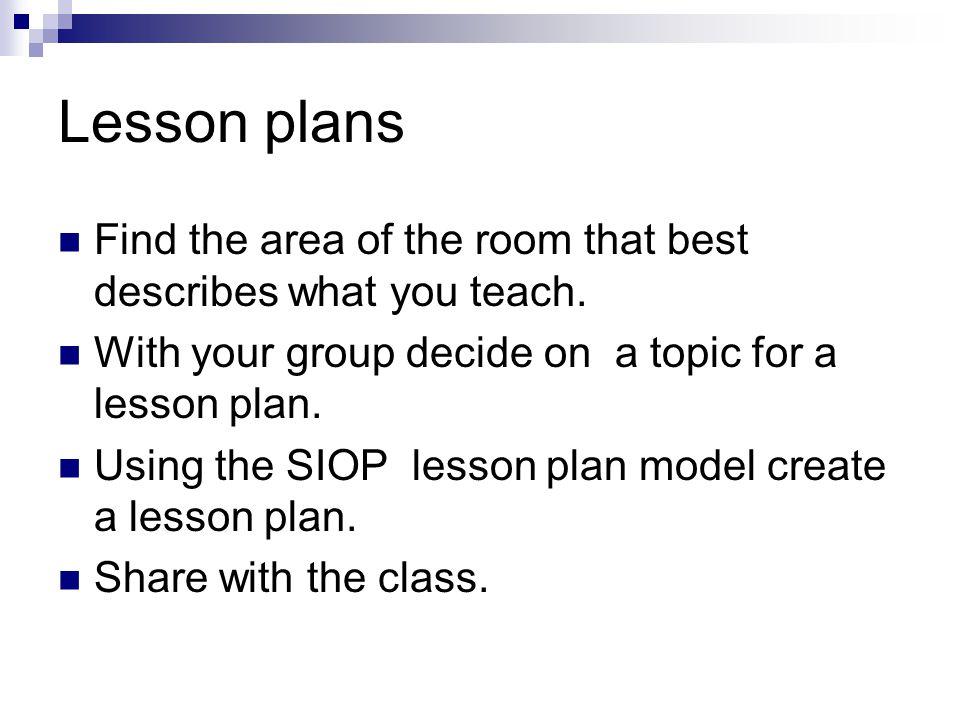 esl 533n siop lesson plans Free essay: using sei strategies in a siop lesson plan mandy wynne grand   lesson plan keysha starks esl 533n – sei advanced.
