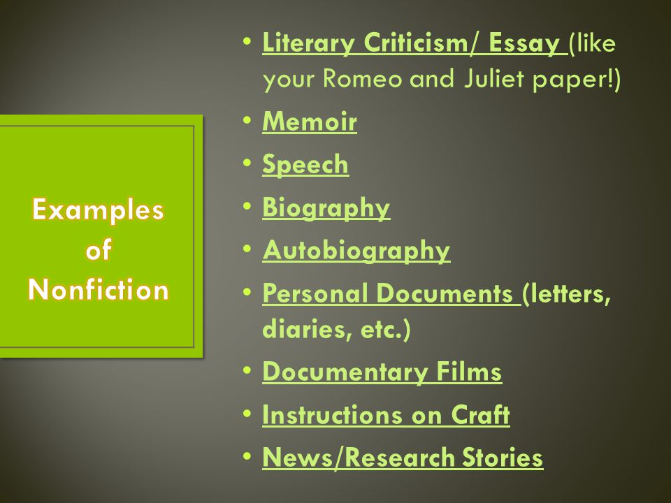 literary criticisms essay