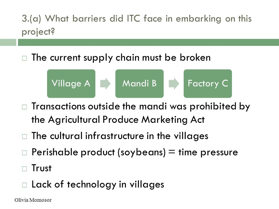 what barriers did itc face in embarking on this project What barriers did itc face in embarking on this project 5 a custom essay sample on learning from leapfrog learning team project charter.