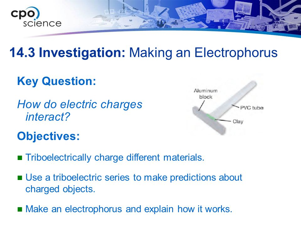 14.3 Investigation: Making an Electrophorus