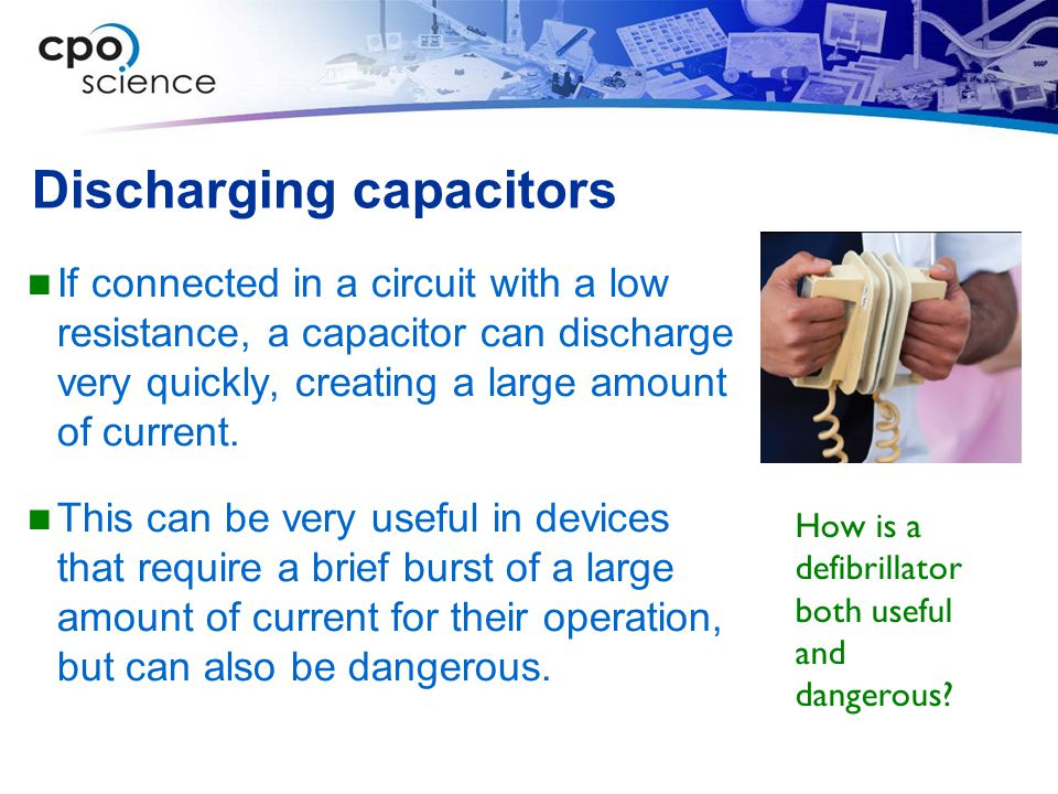 Discharging capacitors