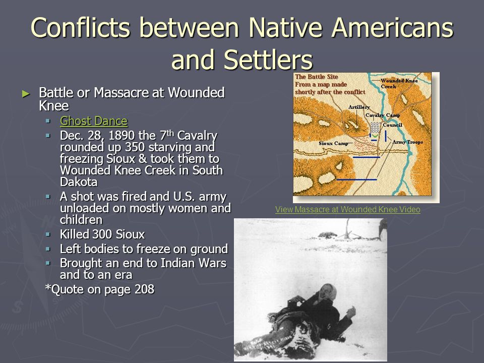 conflicts between native americans and settlers