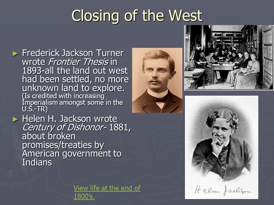 The closing of the west the turner thesis