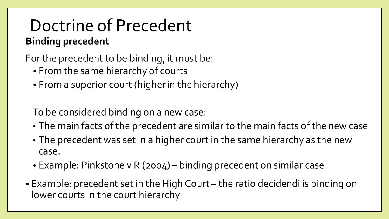doctrine of binding precedent