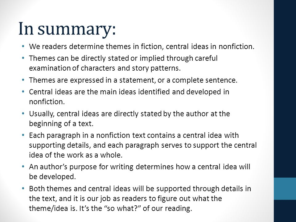 in a nonfiction essay the supporting details support the Without strong and vivid supporting details, it hardly matters what a great topic sentence a writer has created for a paragraph it's the supporting details, in the form of facts, descriptions, and examples, that back up the claim made in that sentence.